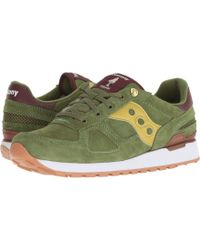 03aab3af1294 Saucony - Shadow Original Vintage Sneakers With Aged And Mesh Effect In  Suede - Lyst
