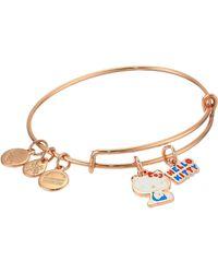 ALEX AND ANI - Hello Kitty Duo Charm Bangle Bracelet - Lyst