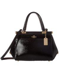 COACH - Grace 20 Bag In Crossgrain Patent Leather (li/black) Bags - Lyst