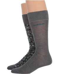 BOSS - Two-pack Grey Mini Pattern Socks - Lyst