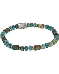 John Hardy - Classic Chain Bead Bracelet With Mixed Turquoise - Lyst