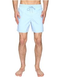 Vilebrequin - Moorea Classic Solid Swim Trunk Swimwear - Lyst
