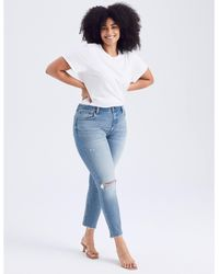 Abercrombie & Fitch Curve Love High Rise Skinny Jeans - Blue