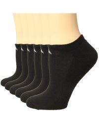 adidas Athletic 6-pack No Show Socks No Show Socks Shoes - Black