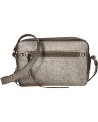 26a81acc6a98 Lyst - Frye Demi Mini Satchel (silver Metallic) Satchel Handbags in ...