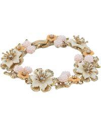 Marchesa - Force Of Nature 7.25 Flex Floral Bracelet - Lyst