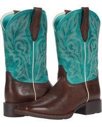 Ariat Cattle Drive Cowboy Boots - Multicolor