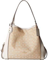 COACH - Signature Edie 31 Shoulder Bag (li/khaki/brown) Handbags - Lyst