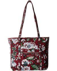 b77010f7a3a8 Vera Bradley - Iconic Small Vera Tote (bordeaux Blooms) Tote Handbags - Lyst