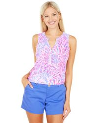 Lilly Pulitzer Essie Top - Pink