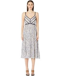 Jason Wu Forget Me Not Satin Dress - Multicolor