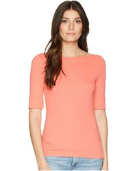 Lauren by Ralph Lauren - Cotton Boat Neck T-shirt (sage Moss) Women's T Shirt - Lyst