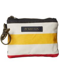 Pendleton Canopy Canvas Id Pouch Key Ring - White