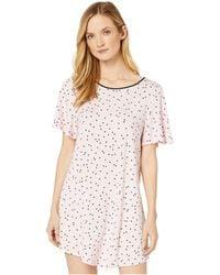 Kate Spade Evergreen Modal Jersey Short Sleeve Sleepshirt - Pink
