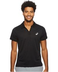 Asics - Court Classic Polo (performance Black) Men's Short Sleeve Knit - Lyst