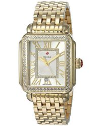 Michele Deco Madison Watch Gold - Metallic