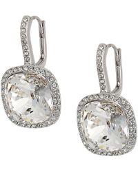Swarovski - Lattitude Pierced Earrings (rhodium Plating/white) Earring - Lyst