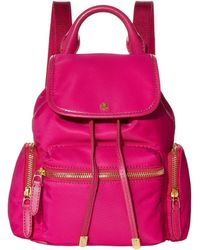 Lauren by Ralph Lauren Keely 17 Soft Nylon Backpack Small - Pink