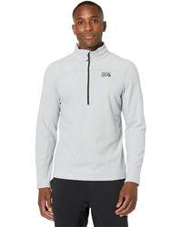Mountain Hardwear Microchill 2.0 Zip T - White