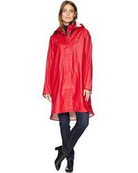 Ilse Jacobsen Lightweight True Rain Loose Fitting Trench Coat - Red