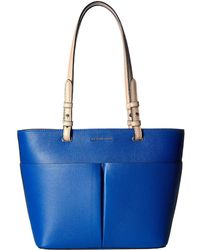 f3c973b662ac MICHAEL Michael Kors - Bedford Medium Top Zip Pocket Tote (grecian Blue)  Tote Handbags