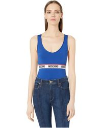 Moschino Bodysuit W/ Band - Blue