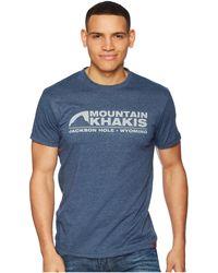 Mountain Khakis - Logo T-shirt - Lyst