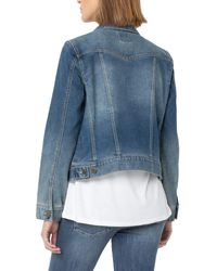 Liverpool Jeans Company Classic Jacket W/ Angled Seaming - Blue