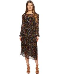 See By Chloé - Printed Silk Crepon Midi Dress - Lyst