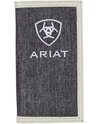 Ariat Embroidery Rodeo Wallet Bags - Gray