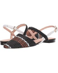 73ce83e67 J.Crew - Woven Marina Slide With Ankle Strap - Lyst