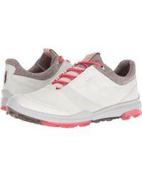 Ecco - Biom Hybrid 3 Gtx (white/teaberry) Women's Golf Shoes - Lyst