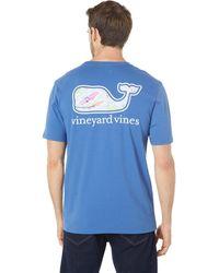 Vineyard Vines Short Sleeve Surfboards Whale Fill Pocket Tee - Gray