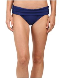 Athena - Cabana Solids Lani Banded Bikini Bottom (navy) Women's Swimwear - Lyst
