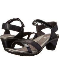 b101ff1a4eb4 Naot - Cheer (jet Black Leather black Patent Leather) Women s Dress Sandals  -