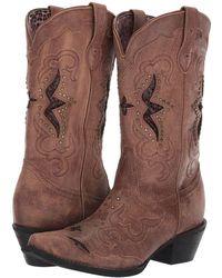 Laredo - Lucretia (dark Black/tan) Cowboy Boots - Lyst