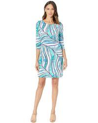 Tommy Bahama Batiki Tiki 3/4 Sleeve Dress - Blue
