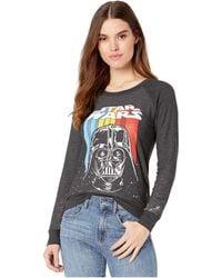 Chaser Star Wars Retro Darth Cozy Knit Pullover - Black
