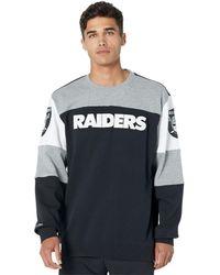 Mitchell & Ness Nfl Perfect Season Crew Fleece Raiders - Black