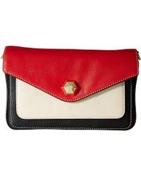 Frances Valentine - Tess Color Block Clutch (light Blue/oyster/green) Clutch Handbags - Lyst