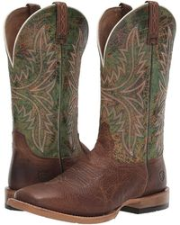 6f09bc5288b Ariat Cowhand Venttek Cowboy Boot in Green for Men - Lyst
