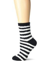 Karen Neuburger Fuzzy Soft Crew Sock - Multicolor