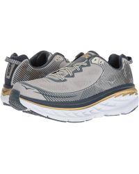 Hoka One One Bondi 5 (cool Gray/midnight Navy) Men's Running Shoes - Blue