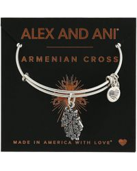 ALEX AND ANI - Path Of Symbols-armenian Cross Iv Bangle - Lyst