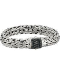 John Hardy - Classic Chain 10.5mm Bracelet With Black Sapphire (silver) Bracelet - Lyst