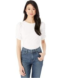 Kate Spade Ruched Sleeve Tee - White