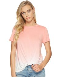 Kensie - Viscose Spandex Ombre Knot Top - Lyst