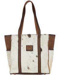 STS Ranchwear Cowhide Heritage Tote - Brown