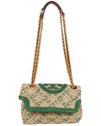 Tory Burch Fleming Soft Straw Small Convertible Shoulder Bag - Green