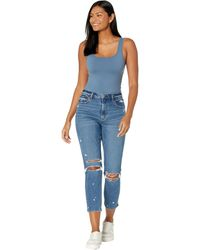 Abercrombie & Fitch Curve Love High Rise Mom Jeans - Black